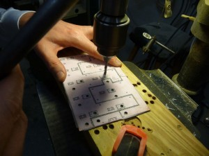 Drilling the power circuit board
