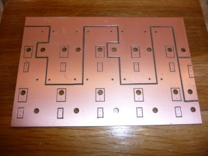 Completed, unassembled power circuit board