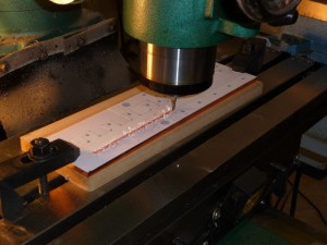 Machining the copper bus bars