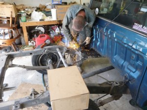 Removing exhaust system brackets