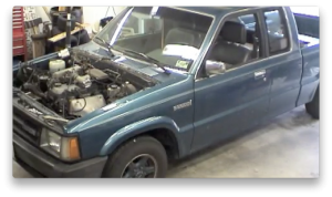 Engine removal timelapse