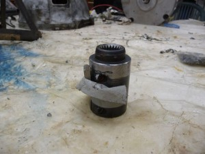 Mostly finished motor shaft coupler