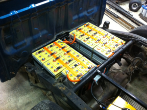 Rear battery packs, ready to wire