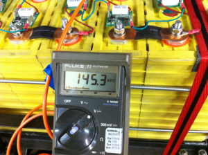 Traction pack voltage, prior to first charging attempt